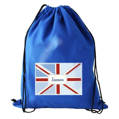 Personalised Patchwork Union Jack Swimbag